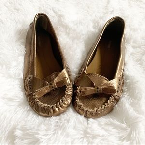 Bronze Flats with Bows - size 6